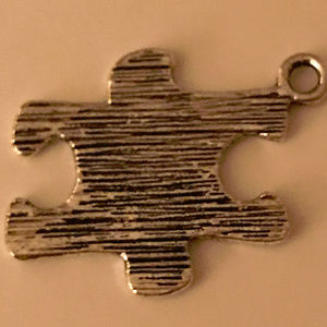 Puzzle Piece Charm Sterling Silver One Piece